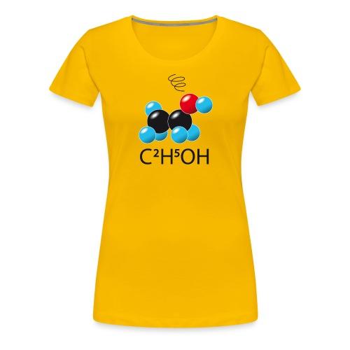 c2h5oh (sur Tshirts clairs) - T-shirt Premium Femme