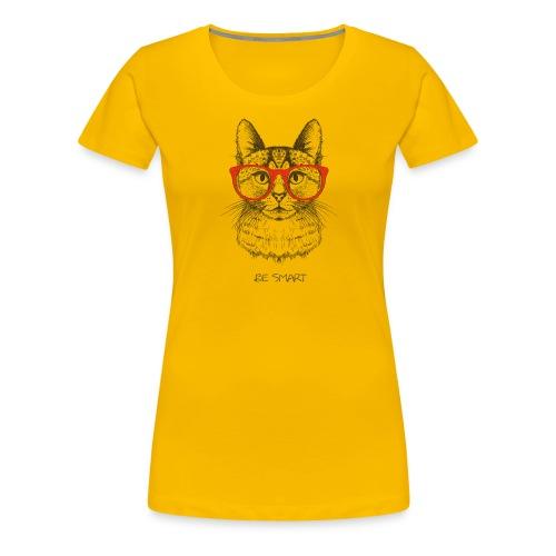 Vorschau: Cat Hipster - Frauen Premium T-Shirt