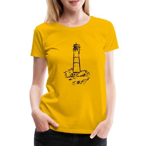 Leuchtturm Hörnum Sylt Art Design - Frauen Premium T-Shirt