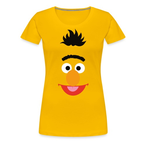 Sesamstraße Bert Gesicht - Frauen Premium T-Shirt