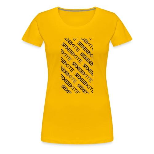 stoked2schuinetekst - Vrouwen Premium T-shirt