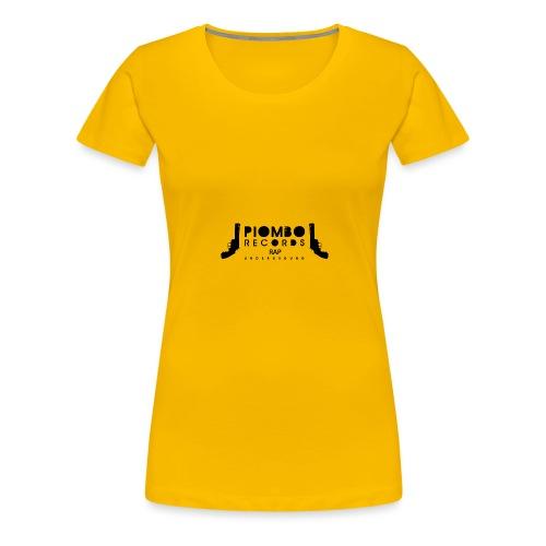 PIOMBO RECORDS NERO - Maglietta Premium da donna