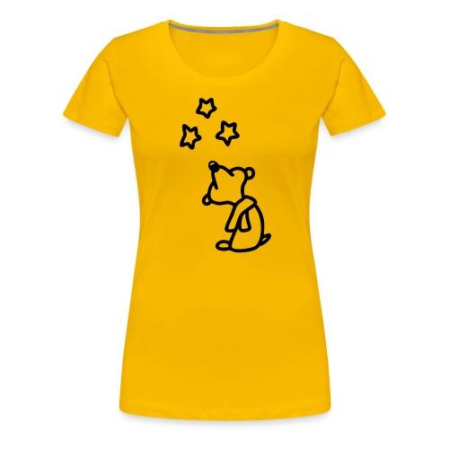 Bär - Sterne gucken - Frauen Premium T-Shirt