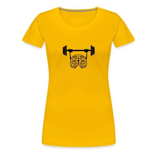 cerveau cervelle barre musculation - T-shirt Premium Femme