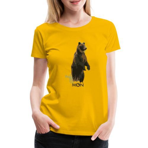 OSO PARDO - Camiseta premium mujer