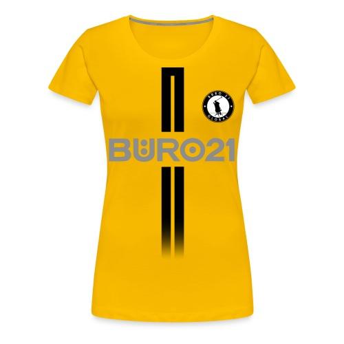 BÜRO21 Global Trikotlook - Frauen Premium T-Shirt