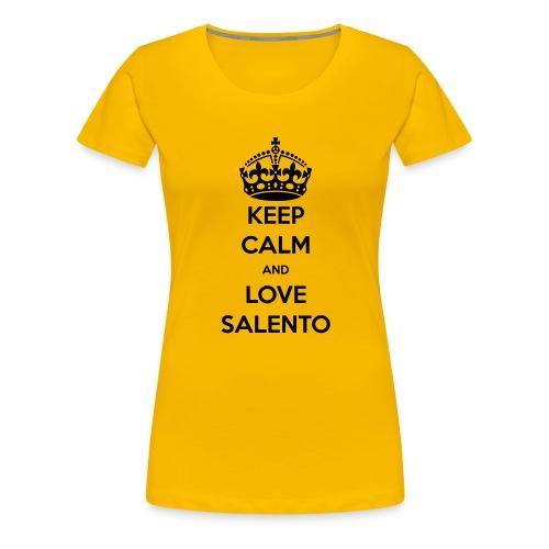 KEEP CALM LOVE SALENTO - Maglietta Premium da donna