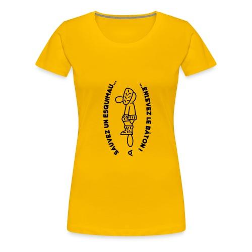 sauvez un esquimau - T-shirt Premium Femme