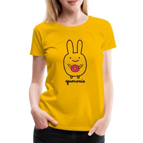 Dirk yummie hase kaninchen bunny häschen donut - Frauen Premium T-Shirt