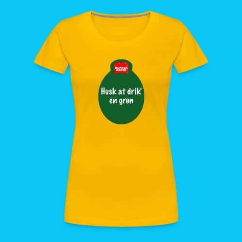 Grøn - Dame premium T-shirt