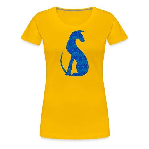 Siluett blå - Premium-T-shirt dam