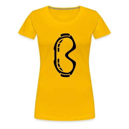 skibrille - Frauen Premium T-Shirt