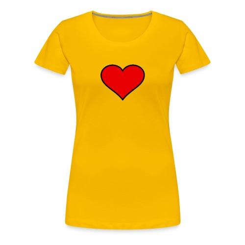 big heart clipart 3 - Premium-T-shirt dam