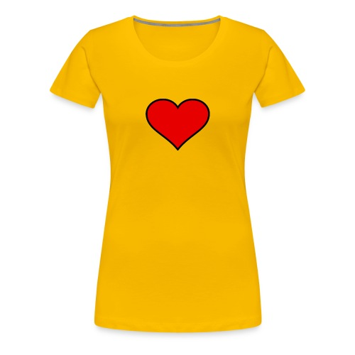 big heart clipart 3 - Premium-T-shirt dam
