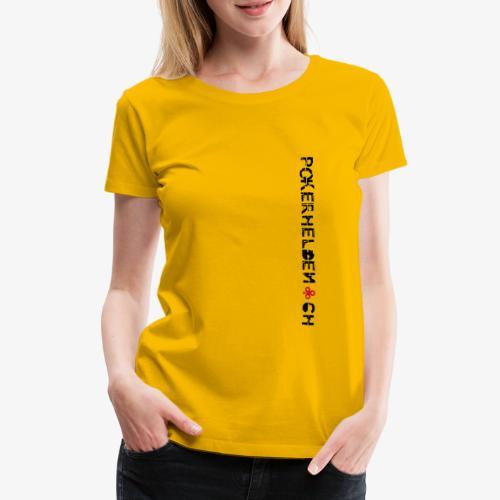 Pokerhelden Logo Schwarz - Frauen Premium T-Shirt