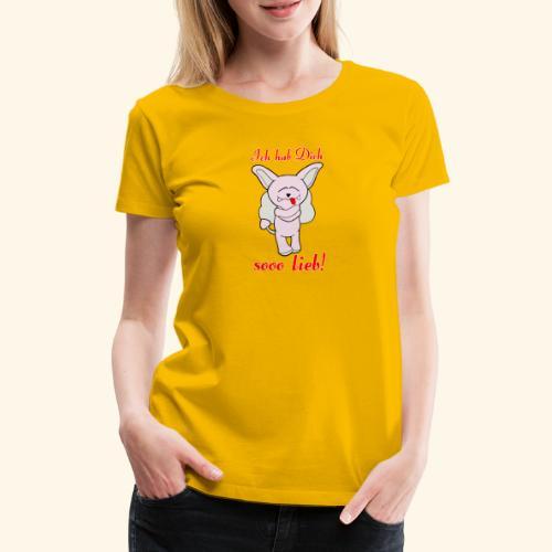 Zwergschlammelfen - Ich hab Dich so lieb! - Frauen Premium T-Shirt