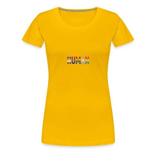 HUMAN - Rainbow - Frauen Premium T-Shirt