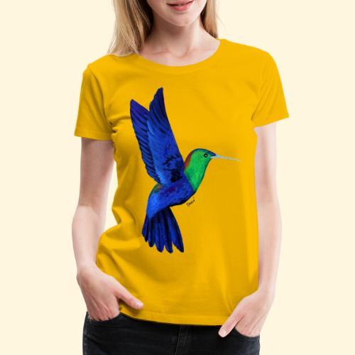 Colibri bleu et vert - T-shirt Premium Femme