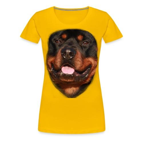 rotweiller face - Women's Premium T-Shirt