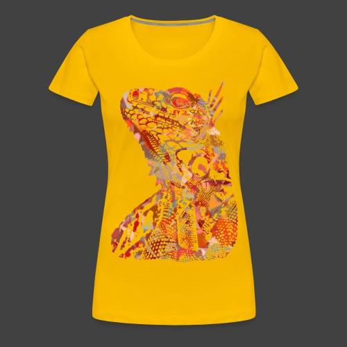 LIZARD1 - RED - Women's Premium T-Shirt