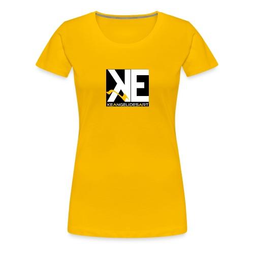 Keangelidesart Yellow Wave - Women's Premium T-Shirt