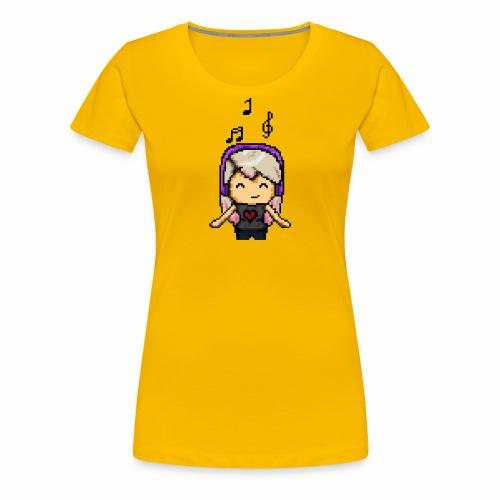 Carina Musik pixel - Frauen Premium T-Shirt