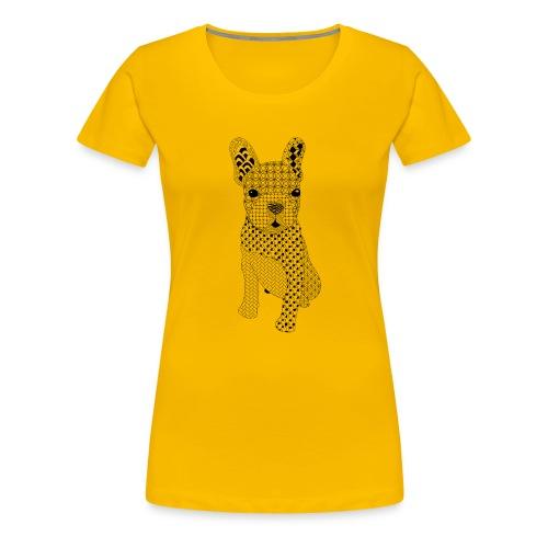 Bulldog puppy patroon - Vrouwen Premium T-shirt