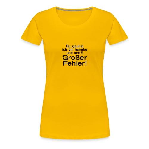 harmlos nett lieb großer Fehler Irrtum Gefahr wild - Women's Premium T-Shirt