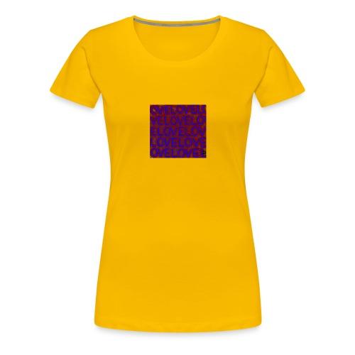 Loveovellila jpg - Frauen Premium T-Shirt