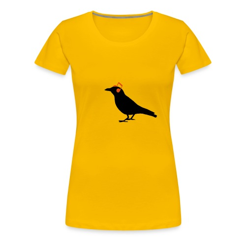 Headphones Kopfhörer Noten Rabe Bird Hipster - Frauen Premium T-Shirt