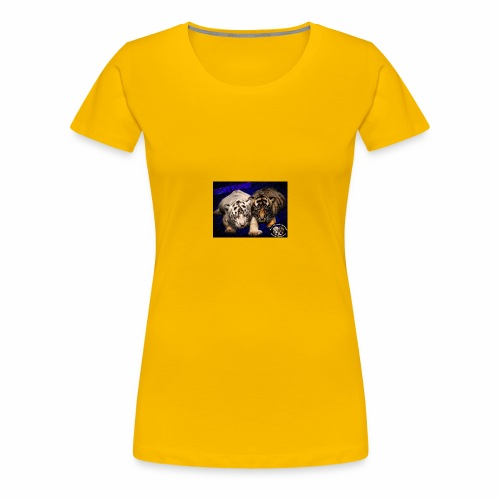 new born tiger cubs - Women's Premium T-Shirt