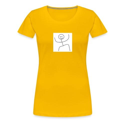 lady t-shirt stick man - Dame premium T-shirt