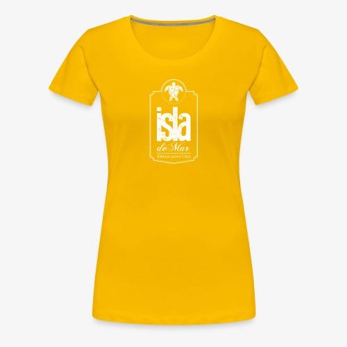 Logotipo White Isla de Mar - Camiseta premium mujer