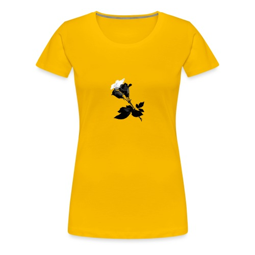 Black and White Rose Bundle - Women's Premium T-Shirt