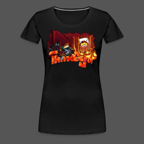 ThnxCya tshirt nether design by Jonas Nacef png - Women's Premium T-Shirt