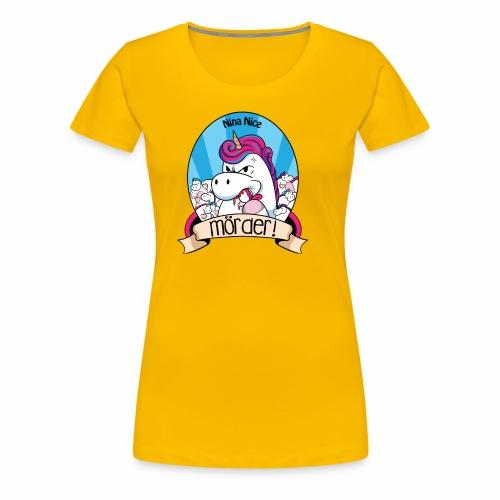 Murder Unicorn - Frauen Premium T-Shirt