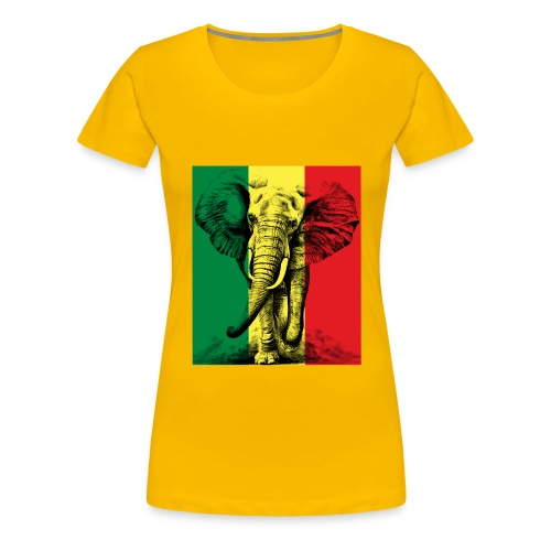 Elephant of Savanna Africa Jungle Safari - T-shirt Premium Femme