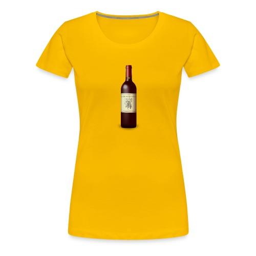 Weinflasche - Frauen Premium T-Shirt