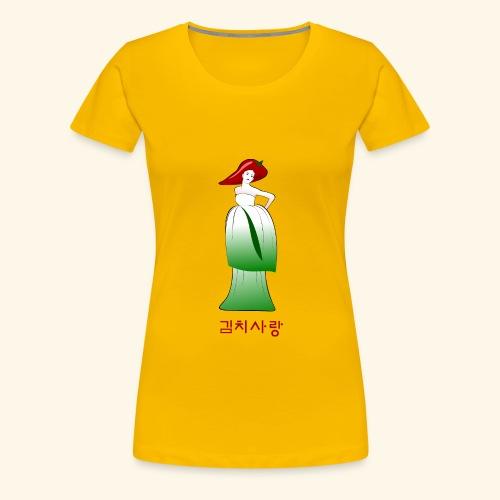 Kimchi Liebe - Frauen Premium T-Shirt