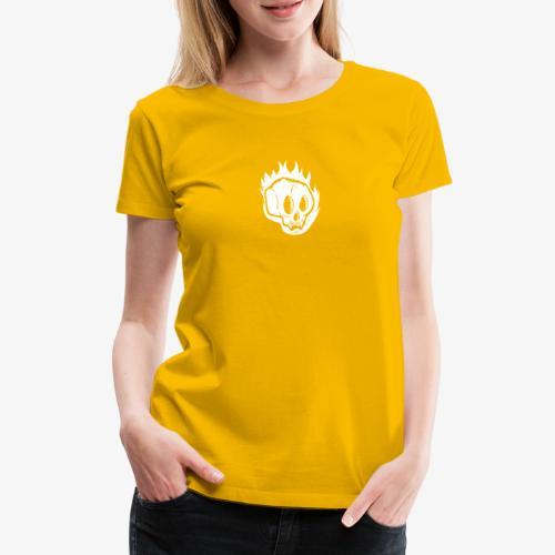 Burning skull - T-shirt Premium Femme