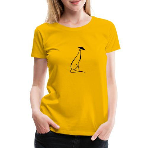 Sitzender Windhund - Frauen Premium T-Shirt