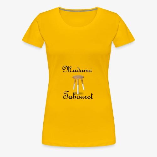 Madame tabouret Noir - T-shirt Premium Femme