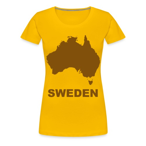 australia brown - Premium-T-shirt dam