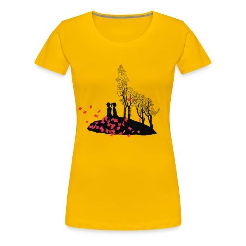 Vargmotiv - Premium-T-shirt dam