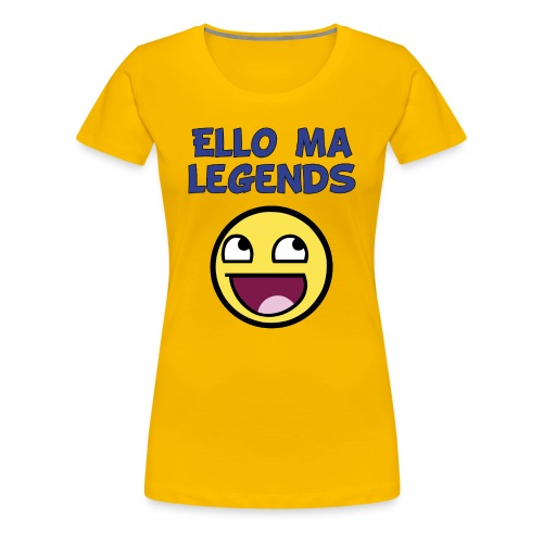 MA LEGENDS tshirt Done black fixed gif - Women's Premium T-Shirt