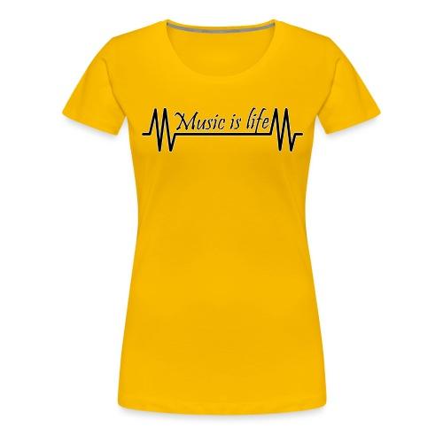 Music is life - Vrouwen Premium T-shirt