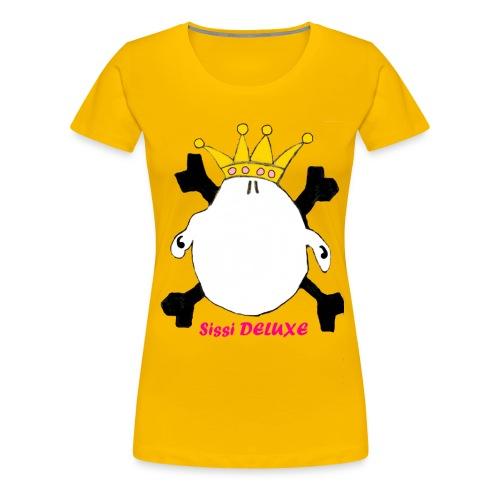 sissi weiß mit krone freigestellt png - Frauen Premium T-Shirt