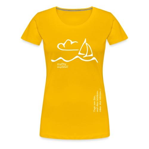 Über die Wellen!.. - Frauen Premium T-Shirt