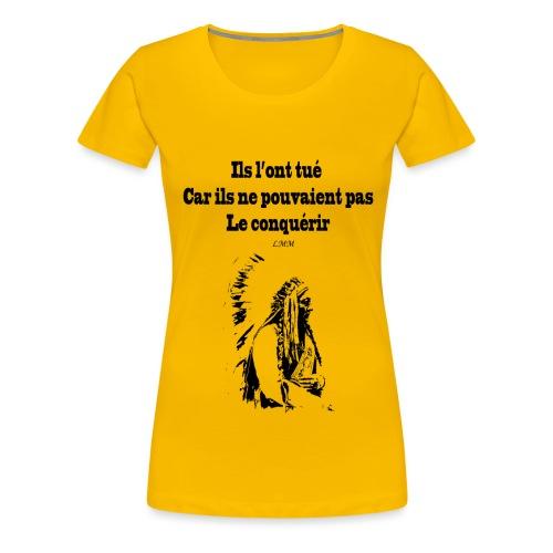 Crazy Horse maxi black png - T-shirt Premium Femme