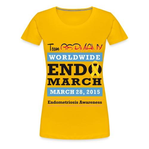 EndoMarch 2015 TeamGermanyDesign - Frauen Premium T-Shirt